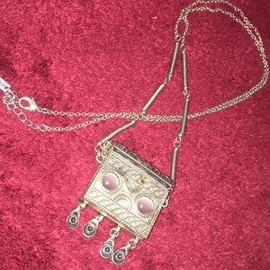 Jewel mint magnet necklace